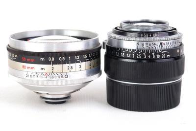 柯达 Retina 50/2 80/4C 二镜组合已改M口#jp22259