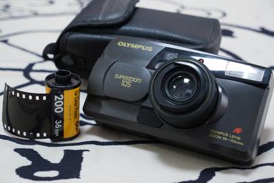 奥林巴斯superzoom105 全自动傻瓜胶片机