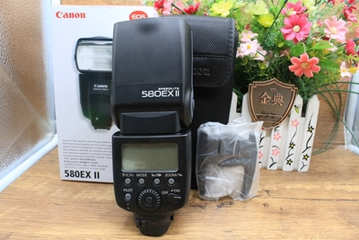 98新二手Canon佳能 580EX II 闪光灯 适用于5D2 5D3 C30559