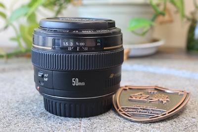 95新二手 Canon佳能 50/1.4 标准定焦镜头回收 792437