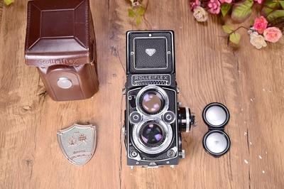 94新禄来2.8f 后期白脸xenotar版本  双反胶片相机回收 950363