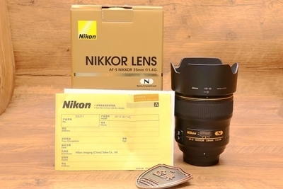 95新二手 Nikon尼康 35/1.4 G 广角定焦镜头 208374
