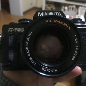 Minolta X-700+黄标MD 50/1.4 大光圈镜头+配件