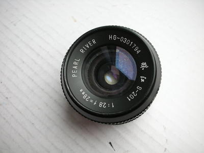 很新珠江28mmf2.8镜头,MD卡口,可转接各种数码相机