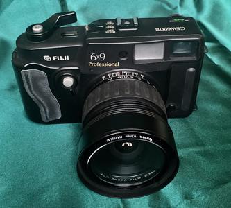 富士GSW690旁轴照相机,富士珑EBC65/3.5镜头,计片器:166