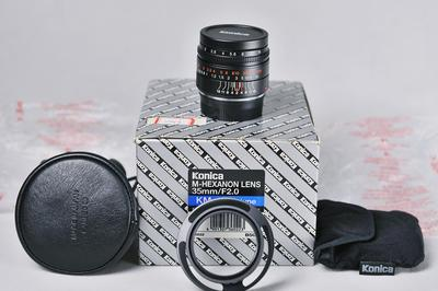柯尼卡Konica M-Hexanon 35/2 莱卡M口 全新镜头 收藏品