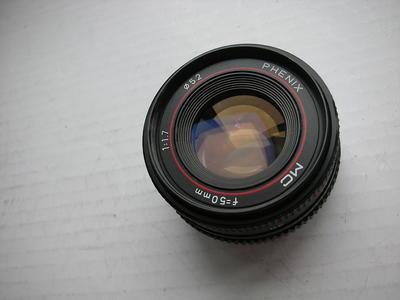 很新凤凰50mmf1.7MC金属制造多层镀膜镜头,PK卡口,可配各种相机