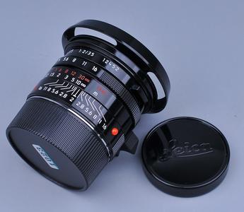 好成色 黑漆限量版 Leica Summicron-M 35/2 Asph E39 原厂遮光罩