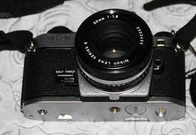 极新Nikon FG20白色机身带50mmf1.8AIS镜头
