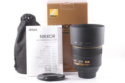 99/尼康 AF-S 85mm f/1.4G 成色极新 (全套包装 )