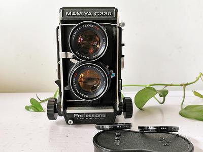 MAMIYA玛米亚 c330 DS105 3.5 镜头 双反相机 原厂镜头盖、滤镜