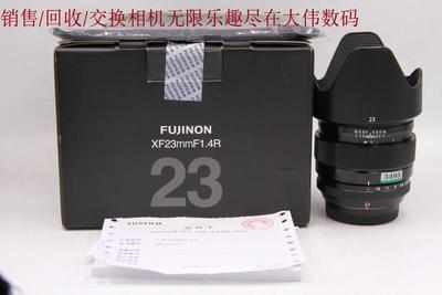 新到 98成新 富士 XF23 1.4R 微单镜头 大陆行货带包装 编号3405