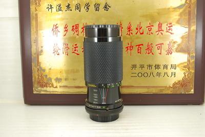 98新 FD口 SUN 80-200 F4.5 MACRO 手动单反镜头 恒圈 长焦远摄