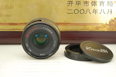 95新 E口 Kaxinda 咔鑫达 35mm F1.7 手动微单镜头 索尼无反机身