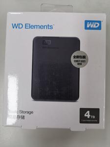 西部数据4TB移动硬盘Elements 新元素系列2.5英寸