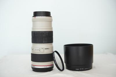个人转让佳能 EF 70-200mm f/4L USM,98成新急售,赠UV镜