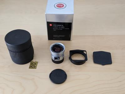 新品展示品购入收藏未使用 徕卡 Leica M 21/2.8 ASPH 全铜银色