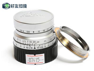 徕卡 Summaron 35/3.5 LTM螺口镜头 连M接环 后期 3.5cm *95新*