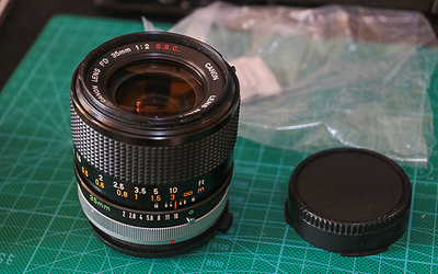 佳能 CANON FD 35mm F2 SSC 近全新 FD 35 F2 SSC 转接A7 凹镜