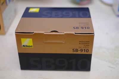 (白菜价,出不了自玩)98新尼康SB910原装闪光灯