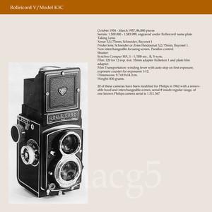 禄来 rolleicord V 德产双反相机 120胶片 施耐德镜头