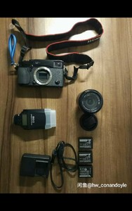 富士 X-Pro 1+16-50一代+Mk320F闪光灯