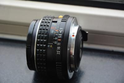 宾得SMCM35F2.8手动镜头镀膜完好与宾得PK口转索尼E口转接环