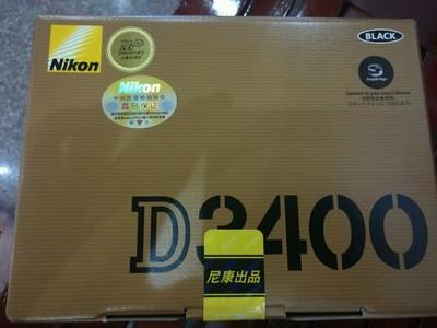 尼康D3400全新未拆封,镜头18-105mm,f3.5-5.6G,价格3400