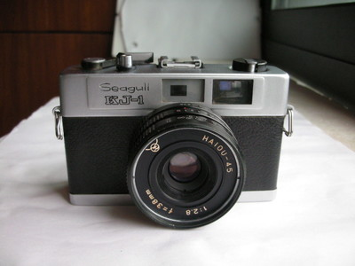 很新海鸥KJ--1金属制造旁轴相机,小巧玲珑,收藏使用