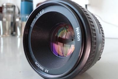 尼康 AF 50mm f/1.8D(尼康标头)保真国行全画幅定焦镜头