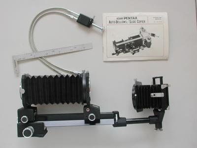 收藏佳品:全套包装M42口宾得皮腔Pentax Bellow + 底片翻拍器!