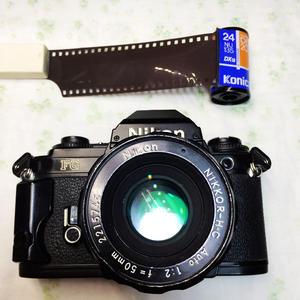 NIKON/尼康 FG 胶卷胶片相机易于FM2 含镜头50mm F2小巧专业相机