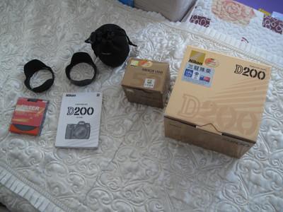 尼康 D200 全套带包装,24-85/f 2.8-4 D   50mmf1.8d