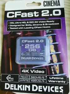 delkin devices戴尔金cfast 2.0储存卡  256G