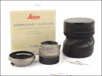 徕卡 Leica M 35/1.4 SUMMILUX-M Ti 钛版 带钛光罩 包装