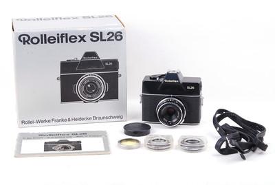 禄来 SL26 带 Tessar 40/2.8镜头 全套带包装#jp19152