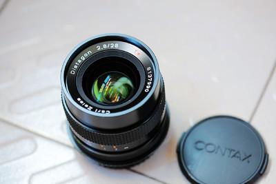 康泰时C/Y口 蔡司 Distagon 28mm/2.8 手动镜头
