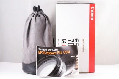 佳能 EF 70-200mm f/4L USM(小小白)  ( 全套包装 ) 编号:UU