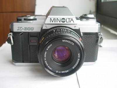 很新美能达X-300单反相机带45mmf1.9薄型饼干镜头,收藏使用