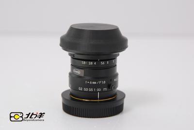 99新 KOWA 6mm/f1.8 (带M 4/3转接环)【已成交】