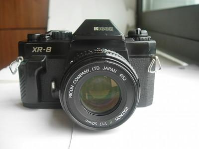 很新理光XR--8机械快门单反相机带50mmf1.7镜头,顺畅使用