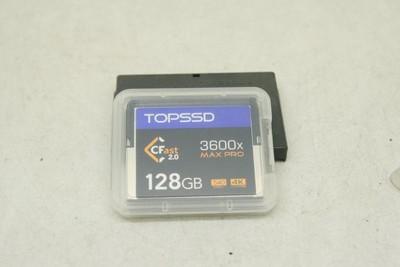 95新 TOPSSD天硕CF128GB 3600X高速CF卡1DXMARKII专用卡