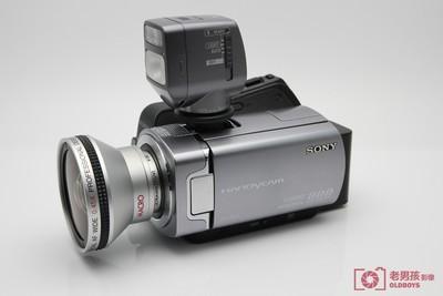 Sony/索尼 DCR-SR65E 40GB 硬盘DV 摄像机带广角镜头原厂闪光灯