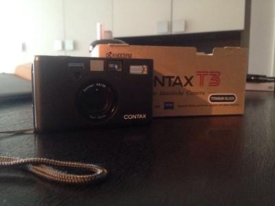 Contax T3 DataBack 稀有日期背黑钛双齿版几乎全新再送光板后背