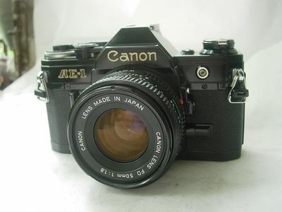 很新佳能 AE-1经典单反相机带50mmf1.8镜头,收藏使用精品