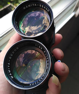 98新自用玛米亚Mamiya 135mm f4.5镜头C330 C220后期蓝点