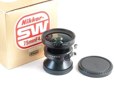 尼康 Nikon SW 75/4.5 明亮画面 4X5最佳广角之一 新同品带包装