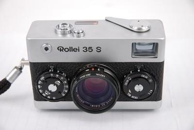 禄来 Rollei 35 S 旁轴胶片相机,银色.带UV和手绳