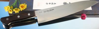 日本著名厨刀制作大师长尾太作品天味寿樂白纸二号本烧牛刀