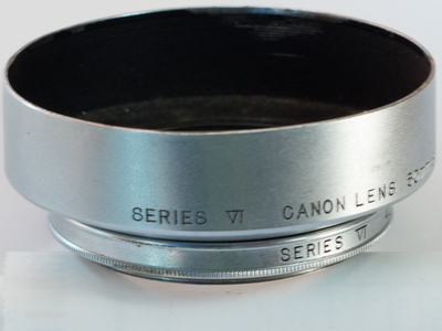佳能 canon L39 50 1.8 银头 遮光罩 有小磕